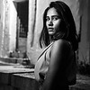 Priya, Black and White Portrait - Bangalore, India