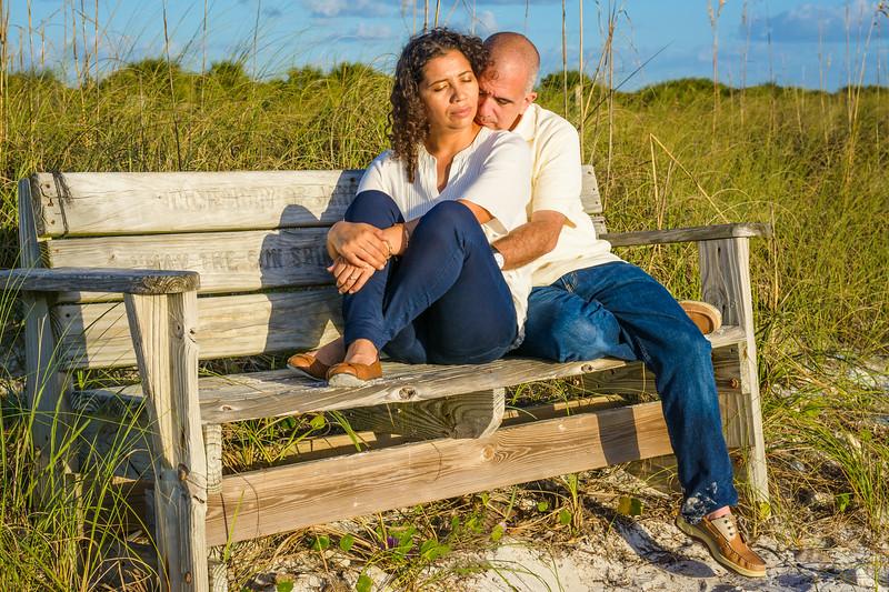 Engagement Portrait on Honeymoon Island, Dunedin