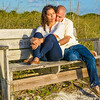 Engagement Portrait on Honeymoon Island, Dunedin