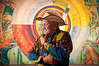 "May 2011 Winnipeg<br /> Alex Janvier Dene a Suline and Saulteaux  artist from Cold Lake Alberta,  Part of the Original ""Indian Group of Seven""  Pioneer of contemporary Canadian aboriginal art in Canada.<br /> <br /> <a href=""http://www.alexjanvier.com/"">http://www.alexjanvier.com/</a>"