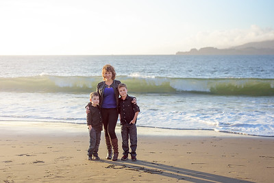 Family and Children Photography Baker Beach San Francisco California