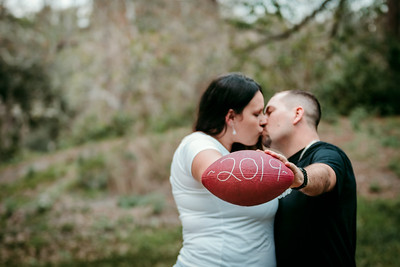 Football Themed Engagement Portraits