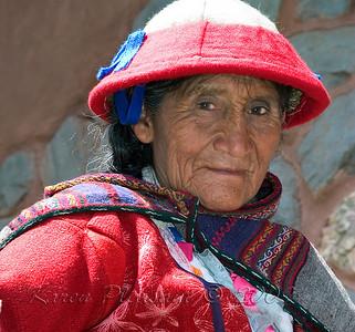 Fresh market vendor, Cuzco, Peru