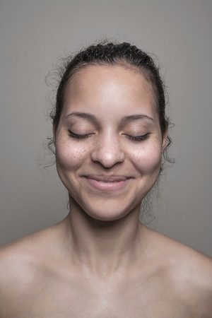 Smiling freckles girl