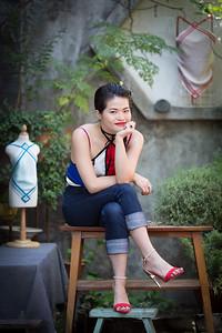 Fashion Designer Huan Liu in her studios in Beijing, China.