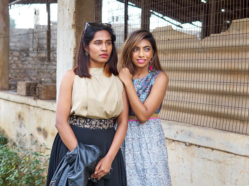 Priya and Sarika, Abandoned Building - Bangalore, India