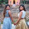 Sarika and Veena at the Temple - Bangalore, India