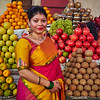 Sahana at the Fruit Stand - Bangalore, India