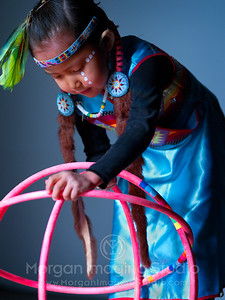 A Portrait Of A Hoop Dancer