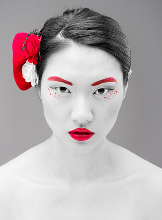 Mei Ling, photographed in Beijing, 2014, makeup by FaceSmash
