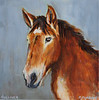Gullver 12x12 Acrylic on Canvas  *Benefits Equine Voices Horse Sanctuary  SOLD