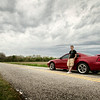 Adam Serwacki<br /> High School Senior Portrait - His Mustang<br /> Not-So-Busy Road - Hobart, Indiana
