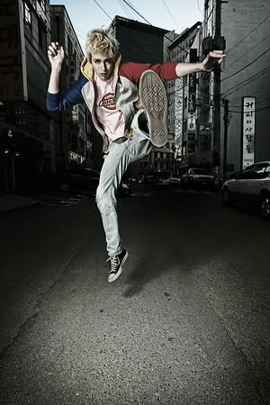 Dave MacLean<br /> The MacLean Brothers<br /> Alley - Hongdae, Seoul, South Korea