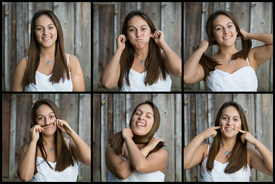 "Jessica Vasquez - Senior Portraits  Jessica is a Merrillville High School senior. ""Make some ridiculous faces."" That was about the extent of the guidance necessary for the fun time we had with this one. I think a monkey face example was needed though. Regardless, it's one of my faves."