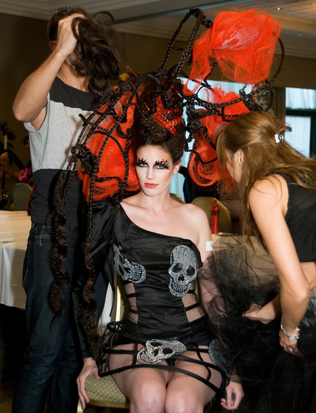 Contestants and their stylists prepare for The Cosmetology Association of Nova Scotia's annual Fantasy Hair and Make-up Competitions