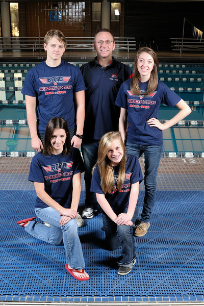 McKinney, Tx Boyd High School Swim and Dive Portraits - Divers