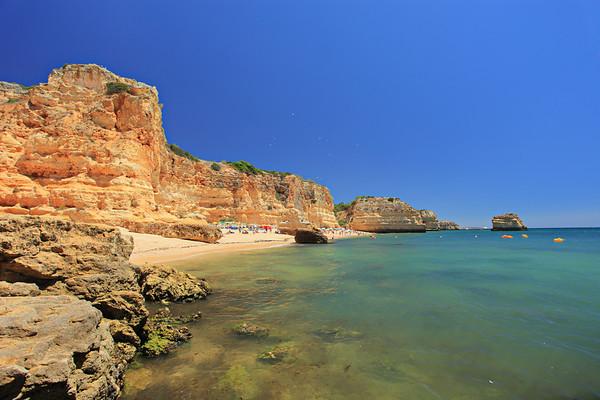 Beach praia da marinha in Algarve, Portugal