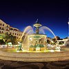Rossio, square, Lisbon, Portugal, night