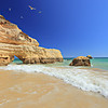 Praia da Rocha beach in Portimao, Algarve, Portugal