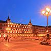 Plaza Mayor square, Madrid, Spain, by night