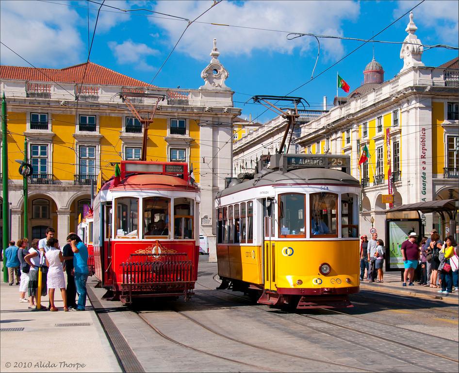 Lisbon, Portugal trams