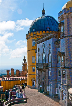 "Pena National Palace (Palácio Nacional da Pena) in Sintra, Portugal<br /> Read about it here: <a href=""http://en.wikipedia.org/wiki/Pena_National_Palace"">http://en.wikipedia.org/wiki/Pena_National_Palace</a>"