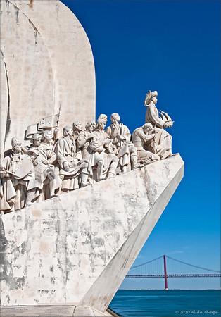 Padrão dos Descobrimentos (Monument to the Discoveries) located on the estuary of the Tagus river