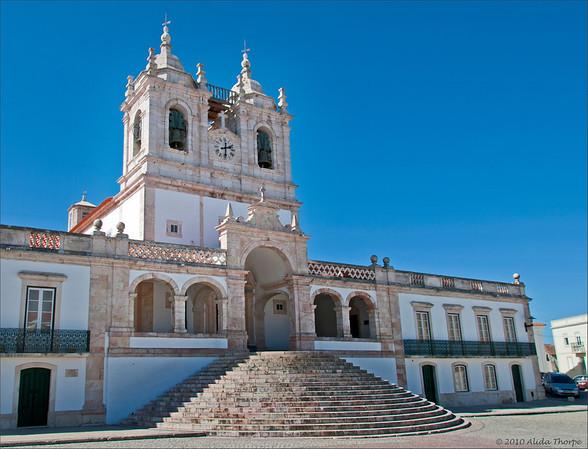Church of Nossa Senhora da Nazaré<br /> Igreja de Nossa Senhora da Nazaré, located on the hilltop O Sitio overlooking Nazaré, Portugal.