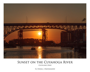 Sunset on the Cuyahoga River (Cleveland, Ohio)