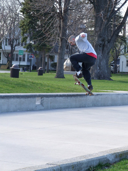 "Skateboarder gets some ""air"" in the park"
