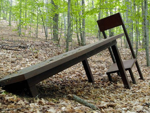 This one I just plain liked.  Table and Chair #3 by Nolan Simon.  The off-kilter staging up against the hill is a nice touch.