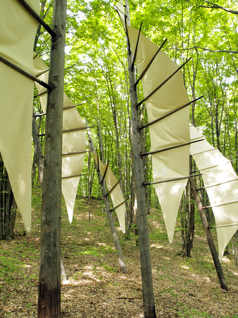 Five Needles by Michael McGillis was huge.  It's meant to represent the only virgin pine forest found in Michigan's lower peninsula which is located only a few miles away.