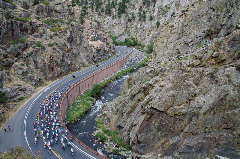 Peloton in Big Thompson Canyon