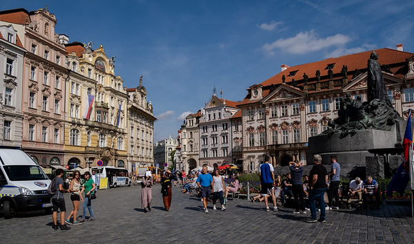 The Left Side Of Scenic Old Town Square