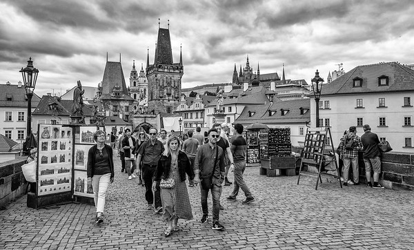 "Walking Off The Opposite End Of The Charles Bridge Into Scenic ""Lesser Town"""