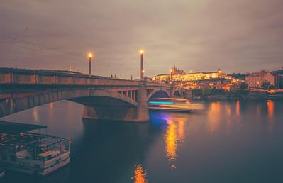 Manes Bridge in the Evening