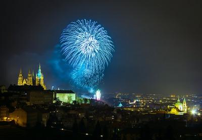 Fireworks in Prague 2014
