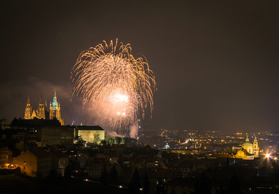 Fireworks in Prague 2014