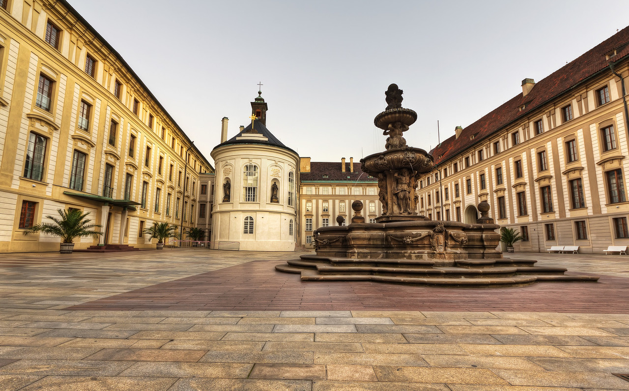 Fountain at Prague Castle Fountain at Prague Castle