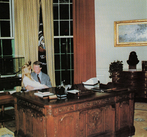 President Carter and Amy in Oval Office