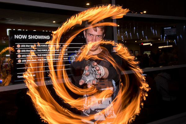 Nick Bell Fire Poi Display