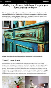 homewings magazine article upcycling with Julian Maison