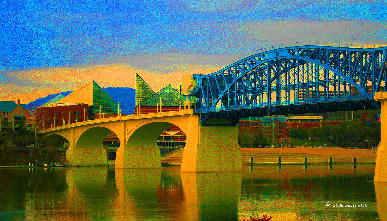 Market Street Geometry Abstract - Market Street Bridge, Chattanooga, Tennessee