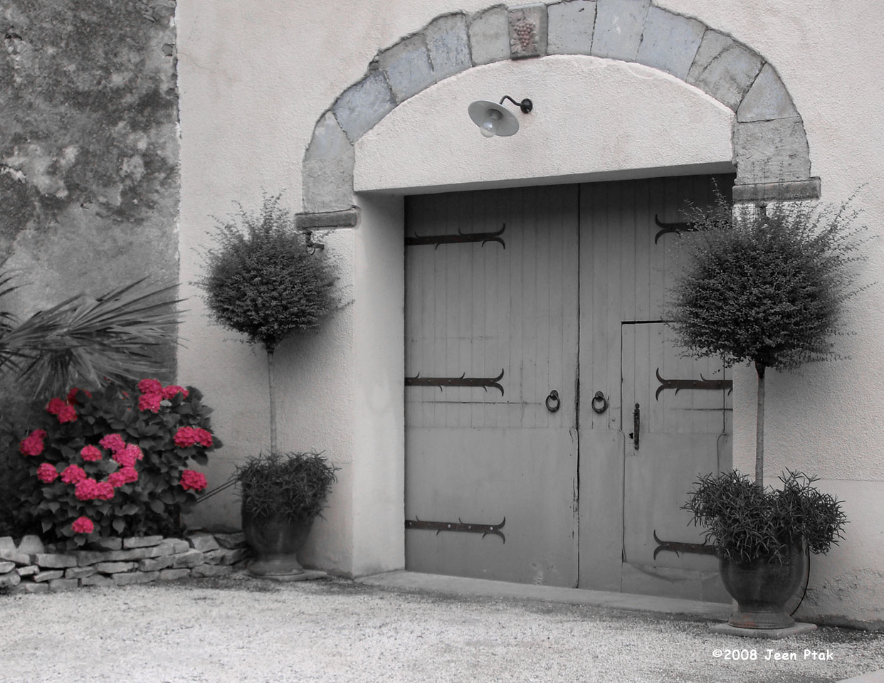 Tweaked B&W - Residential Entrance, Carcassonne, France