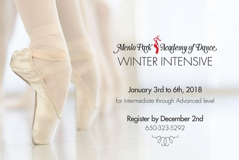 Brochure for Menlo Park Academy of Dance