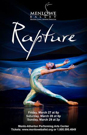 "Poster for Menlowe Ballet ""Rapture"" by Michael Lowe"