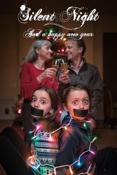 Christmas card, the Raeber family