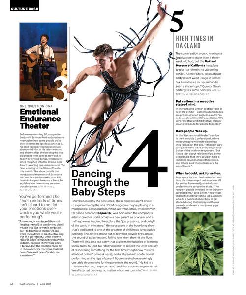 """SF Magazine publication, April 2016<br /> <a href=""""http://digital.modernluxury.com/publication/?i=294391&ver=html5&p=50"""">http://digital.modernluxury.com/publication/?i=294391&ver=html5&p=50</a>"""