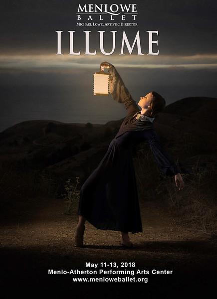 """Poster for Menlowe ballet Illume"""""""