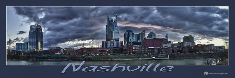 "Nashville Skyline<br /> Designed to print at 12""x36"""